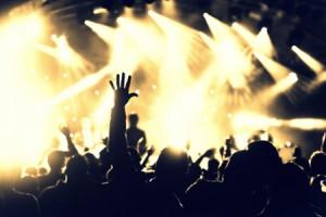 Foto einer Menschenmenge auf einem Konzert
